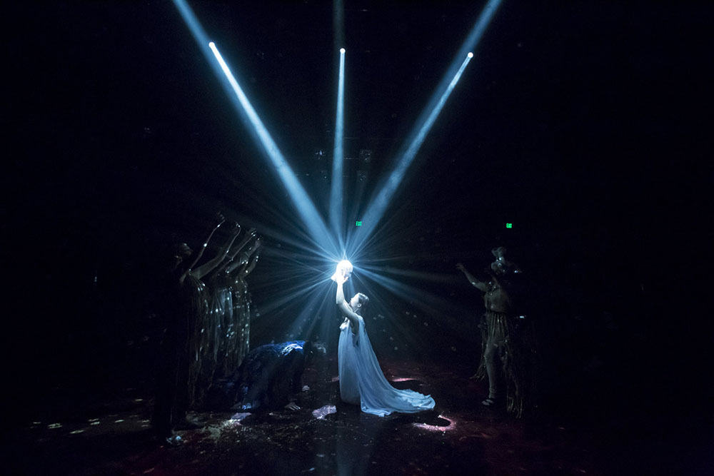 Salome, Theatrical Production, Lighting by Luke Garrity, Direction by Michael Alvarez, Photo by Brian Hashimoto, Walt Disney Modular Theater CalArts