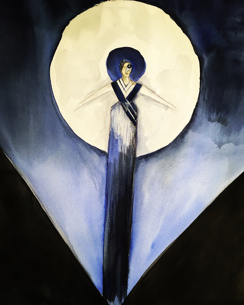Sketch of Queen of the Night from Mozart's The Magic Flute