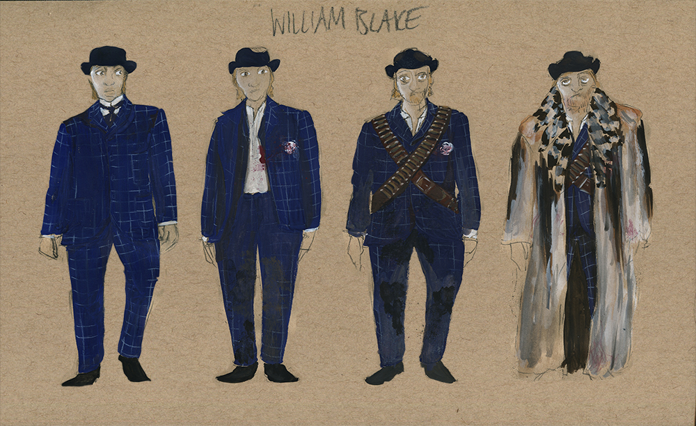 Sketches of William Blake from Jim Jarmusch's Dead Man